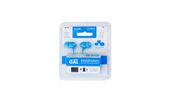 Наушники Gal M-005B внутриканальные голубые