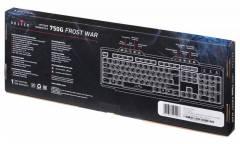 Клавиатура Oklick 750G FROST WAR черный/черный USB Multimedia Gamer