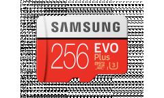 MicroSDXC флэш-накопитель 256GB SAMSUNG EVO PLUS Class 10, UHS-I, U3 (SD адаптер) 90MB/s,