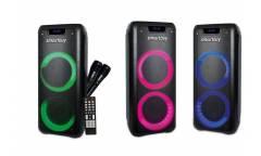 sp SmartBuy MEGA BOOM, 40Вт, BT, MP3, FM, 2 микрофона, ПДУ, LED-свет 2.0