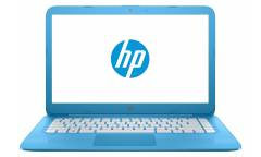 "Ноутбук HP Stream 14-ax015ur Celeron N3060/4Gb/SSD32Gb/Intel HD Graphics/14""/HD (1366x768)/Windows 10 64/blue/WiFi/BT/Cam"