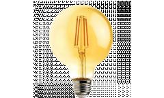 Лампа светодиодная FOTON_G95_10W/822_E27 _FILAMENT_VINTAGE_ янтарный шар глоб