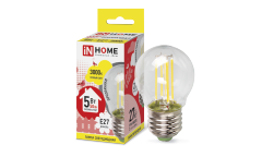 Лампа светодиодная ASD LED-ШАР-deco 5Вт 230В Е27 3000К 450Лм прозрачная IN HOME