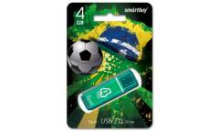 USB флэш-накопитель 4GB SmartBuy Glossy series зеленый USB2.0