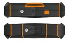Смартфон teXet TM-4084  черный-оранжевый