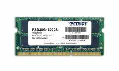 Память DDR3 8Gb 1600MHz Patriot PSD38G16002S RTL PC3-12800 CL11 SO-DIMM 204-pin 1.5В