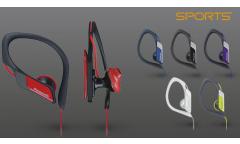 Наушники Panasonic RP-HS34E-A с креплением за ухом для спорта, красные