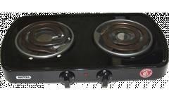 Плитка электрическая настольная Мечта 212т черный 2конфорки ШхГхВ: 54x29.6x8 см 2000Вт толст спираль