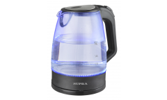 Чайник электрический Supra KES-2185 стекло 2л. 2200Вт черный подсветка