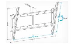 """Кронштейн для телевизора Holder LCD-T6606 черный 42""""-65"""" макс.60кг настенный наклон"""