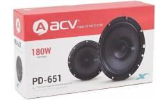 Колонки автомобильные ACV PD-651 (без решетки) 180Вт 88дБ 16см (6.5дюйм) (ком.:2кол.) коаксиальные