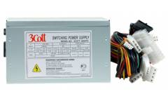 Блок питания 3Cott-500ATX, 500Вт, 20+4P, P4+4, 3* MOLEX, 3* SATA, PCI-E(6+2),1* FDD, 12C