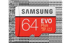 MicroSDXC флэш-накопитель 64GB Samsung Evo Plus Class 10 UHS-I U1 + adapter