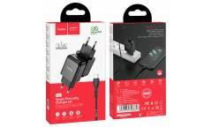 CЗУ Hoco N2 Vigour single port charger Set + Type-C Black
