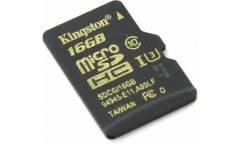 MicroSDHC флэш-накопитель 16GB Class 10 Kingston UHS-I U3 (90MB/s)