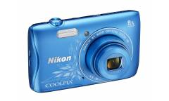 Цифровой фотоаппарат Nikon CoolPix S3700 синий/рисунок