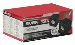 Компьютерная акустика Sven 315 2.0 USB чёрная
