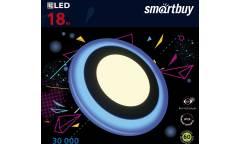 Встраиваемый (LED) светильник с подсветкой DLB Smartbuy-18w/3000K+B/IP20