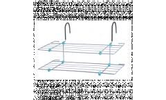 Сушилка для белья на радиатор СБ6-65 ,металл(650х340х360мм) вес 1,1кг складная 2полки