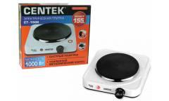 Плитка электрическая Centek CT-1506 (белый) 1конф ЧУГУН 155мм, 1000Вт, индикатор работы