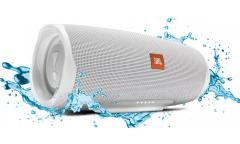 Комплект портативная акустика + наушники JBL CHARGE4 белый+T110BT синий