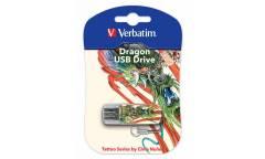 USB флэш-накопитель 32GB Verbatim Mini Tattoo Edition дракон USB2.0