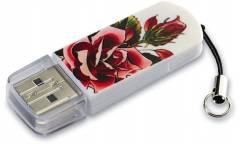 USB флэш-накопитель 32GB Verbatim Mini Tattoo Edition роза USB2.0