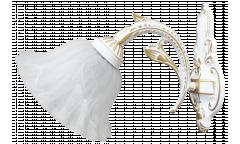 Бра_DE FRAN_ SYP2-3231-1WWH_E27 _1*40Вт КЛАССИКА, ант. белый с золотом, стекло с узором