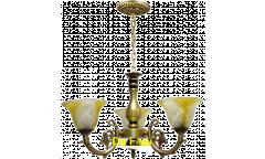 Люстра_DE FRAN_ YL-3034-3AB _E27 _3*40Вт КЛАССИКА, античная бронза, стекло с узором, d54h73см