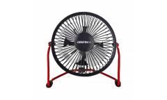 Вентилятор настольный Centek CT-5040 Red металл. решётка 14см, USB питание