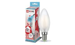 Лампа светодиодная ASD LED-СВЕЧА-deco 5Вт 230В Е14 4000К 450Лм матовая IN HOME