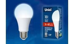 Лампа светодиодная Uniel низковольтная LED-A60-10W/NW/4000/E27/FR/24-48V