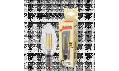 Светодиодная (LED) Лампа FIL (прозрачная) ЭКО_Экономка-C37-08W/2700/E14 _свеча