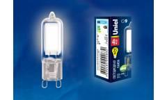 Лампа светодиодная Uniel LED-JCD-4W/NW/G9/CL GLZ01TR 220В белый свет 4000К