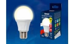Лампа светодиодная Uniel LED-A60 12W/WW/3000К/E27/FR PLP01WH 1050 ЛМ Россия