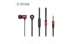 Наушники Yison Celebrat C6S внутриканальные с микрофоном красные