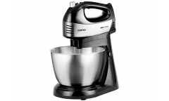 Миксер с чашей стационарный Centek CT-1124 (черн/сталь) 600Вт, 5 скоростей +турбо, чаша 3.0л