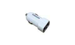 Автомобильное зарядное устройство блочёк Samsung на 2 USB входа 2.1A,1A белый