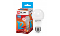 Лампа светодиодная IN HOME LED-A60-VC 12Вт 230В Е27 4000К 1080Лм