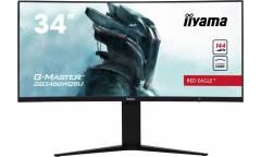 "Монитор Iiyama 34"" Red Eagle GB3466WQSU-B1 черный VA LED 1ms 21:9 HDMI M/M матовая HAS 400cd 178гр/178гр 3440x1440 DisplayPort UWQHD USB 9.5кг"