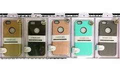 Силиконовая накладка +  пластик iphone 7 розовый в уп.