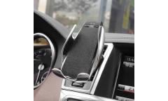 Автодержатель Hoco CA34 Elegant с авто-индукционным открыванием (серебристый)