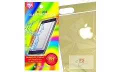 Защитное стекло цветное Krutoff Group для iPhone 5/5S на две стороны с 3D-рисунком (gold)