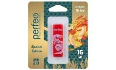 USB флэш-накопитель 16GB Perfeo C04 Red Dragon USB2.0