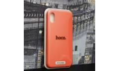 Силиконовый чехол HOCO PURE Series для iPhone X Apricot