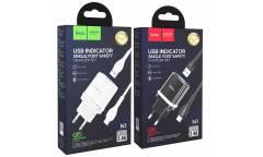 CЗУ Hoco N1 Ardent single port charger set + Type-C White