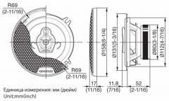 Колонки автомобильные Kenwood KFC-1353RG2 (13 см)