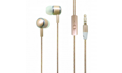 Наушники Auzer AE-7BE внутриканальные с микрофоном (Gold)
