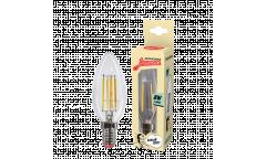 Светодиодная (LED) Лампа FIL (прозрачная) ЭКО_Экономка-C37-08W/4500/E14 _свеча