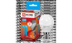 Лампа светодиодная IN HOME LED-ШАР-VC 11Вт 230В Е14 4000К 820Лм